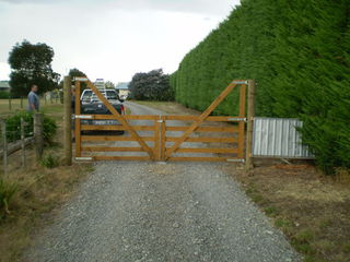Wooden High Backed Gate